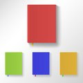 Book with color covers and bookmarks Royalty Free Stock Photography