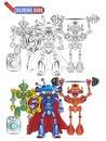 Book coloring robots aliens sportsmen super heroes
