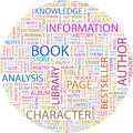 Book concept illustration graphic tag collection wordcloud collage Royalty Free Stock Images