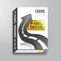 Book cover design template business concept can be used for e e magazine vector illustration Royalty Free Stock Photos
