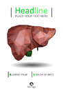 Book cover template with Realistic human liver with bile duct an