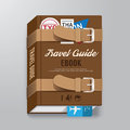 Book cover travel guide design luggage concept template can be used for e e magazine vector illustration Royalty Free Stock Photos