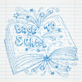 Book Doodle on paper, Back to School Sketchbook Illustration