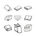 Book doodles set