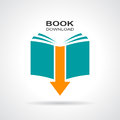 Book download icon Royalty Free Stock Photo