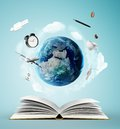 Book and earth Royalty Free Stock Photo