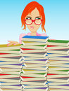 Book Girl/Librarian Royalty Free Stock Photo