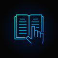 Book and hand blue icon Royalty Free Stock Photo