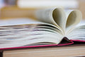 Book with heart shaped pages Royalty Free Stock Photo