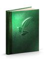 Book of herbal healing clipping path hardcover leather with Royalty Free Stock Photo