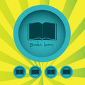 Book icon over grunge background vector illustration Royalty Free Stock Photo