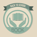Book icon over a white background vector illustration Royalty Free Stock Photos