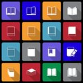 Book icon set wiht long shadow this is file of eps format Royalty Free Stock Images