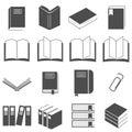 Book Icon Vector Set on gray