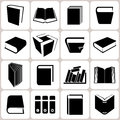 Book icons set of and signs Stock Photo