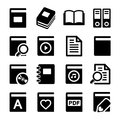 Book icons set on white background Royalty Free Stock Photo