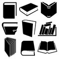 Book icons and signs set Stock Image