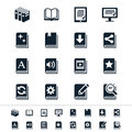 Book icons simple clear and sharp easy to resize no transparency effect eps file Royalty Free Stock Images
