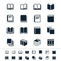 Book icons simple clear and sharp easy to resize no transparency effect eps file Stock Photography