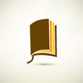Book isolated symbol stylized icon Royalty Free Stock Photo