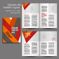 A book layout design template geometric abstract with cover and spreads of contents preview for magazines books annual Stock Image