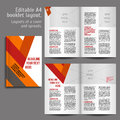 A book layout design template geometric abstract with cover and spreads of contents preview for magazines books annual Royalty Free Stock Image