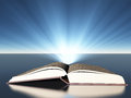 Book with light radiating beams of Royalty Free Stock Photos