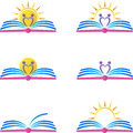 Book logos a vector drawing represents design Royalty Free Stock Images