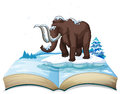 Book of mammoth on iceberg