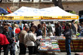 Book market in Tarragona, Spain Royalty Free Stock Image