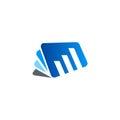Book note business finance chart logo
