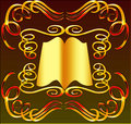 Book with ornament Royalty Free Stock Images