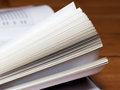 Book pages closeup Royalty Free Stock Photo