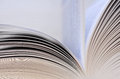 Book pages closeup open with flying Royalty Free Stock Photo