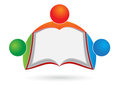 Book reader logo Royalty Free Stock Photography