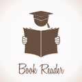 Book reader sign vector illustration of the Royalty Free Stock Photography