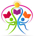 Book readers logo Royalty Free Stock Photo