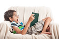 Book reading hobby little boy Royalty Free Stock Photo