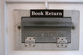 Book return chute close up of library Royalty Free Stock Photography