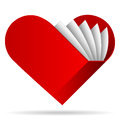 Book shape heart Royalty Free Stock Images