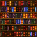 Book Shelf Pattern Royalty Free Stock Images