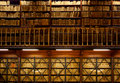 Book shelves in library Royalty Free Stock Photos