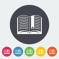 Book. Single flat icon.