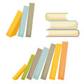 Book stack set Royalty Free Stock Photo