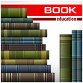 Book stacks on white new text vector illustration Royalty Free Stock Photo