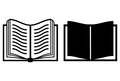 Book vector icon Stock Photo