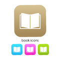 Book vector icon isolated on white Royalty Free Stock Photos