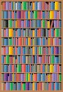 Bookcase background illustrated nice as interesting scientific Royalty Free Stock Photo