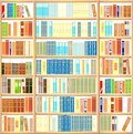 Bookcase full of books different colorful Royalty Free Stock Images