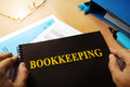 Bookkeeping written on a note. Royalty Free Stock Photo